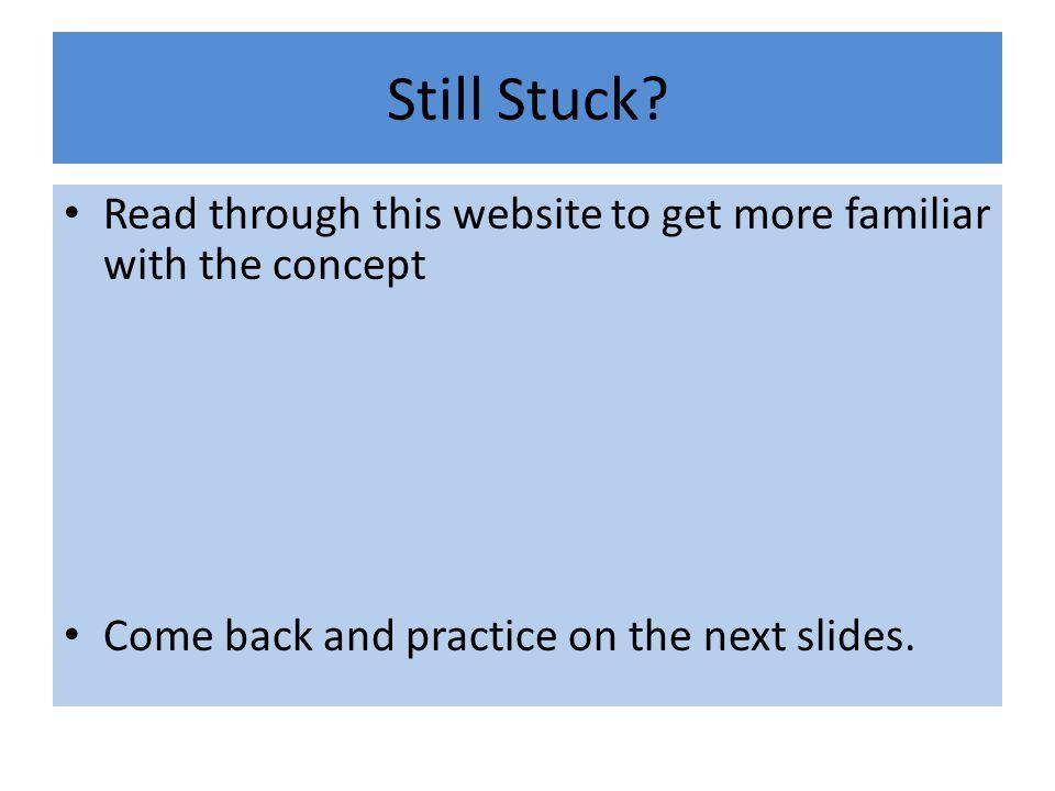 Still Stuck.