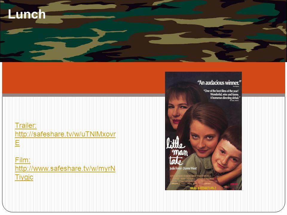 Lunch Trailer: http://safeshare.tv/w/uTNlMxovr E Film: http://www.safeshare.tv/w/myrN Tiygjc