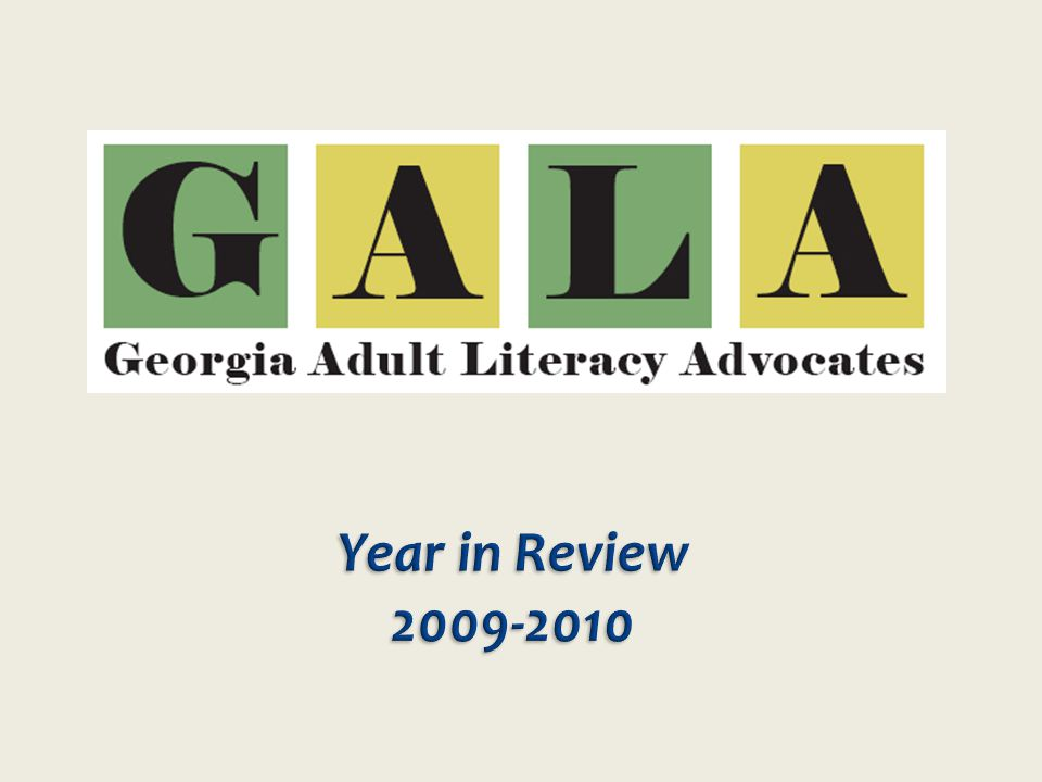 Adult Literacy providers from across Georgia nominated state Senators and Representatives who had been supportive of literacy efforts in their districts.