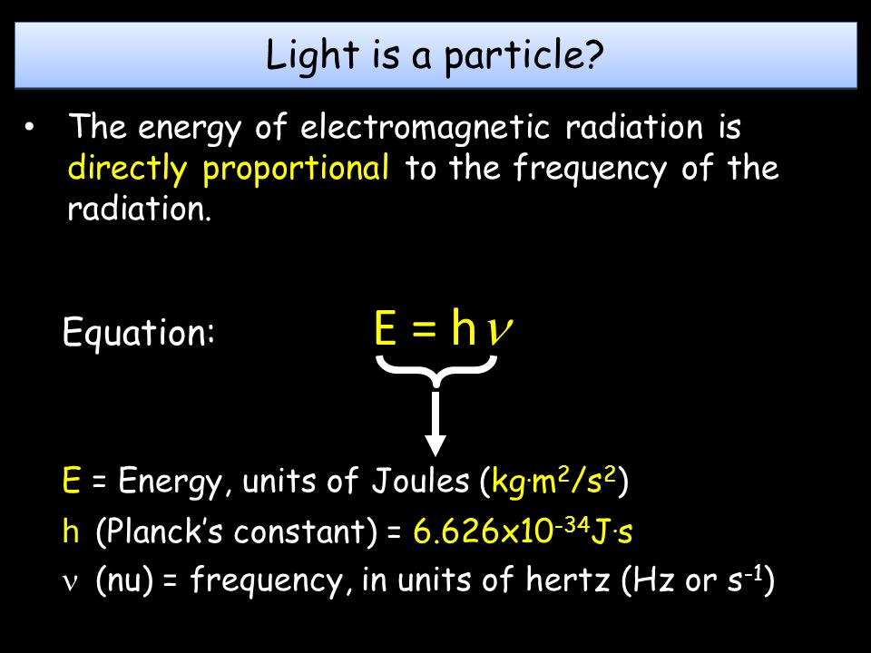 Light is a particle.