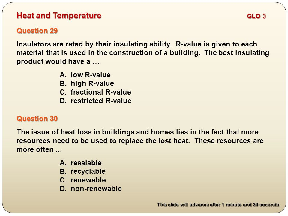 Question 29 Insulators are rated by their insulating ability.