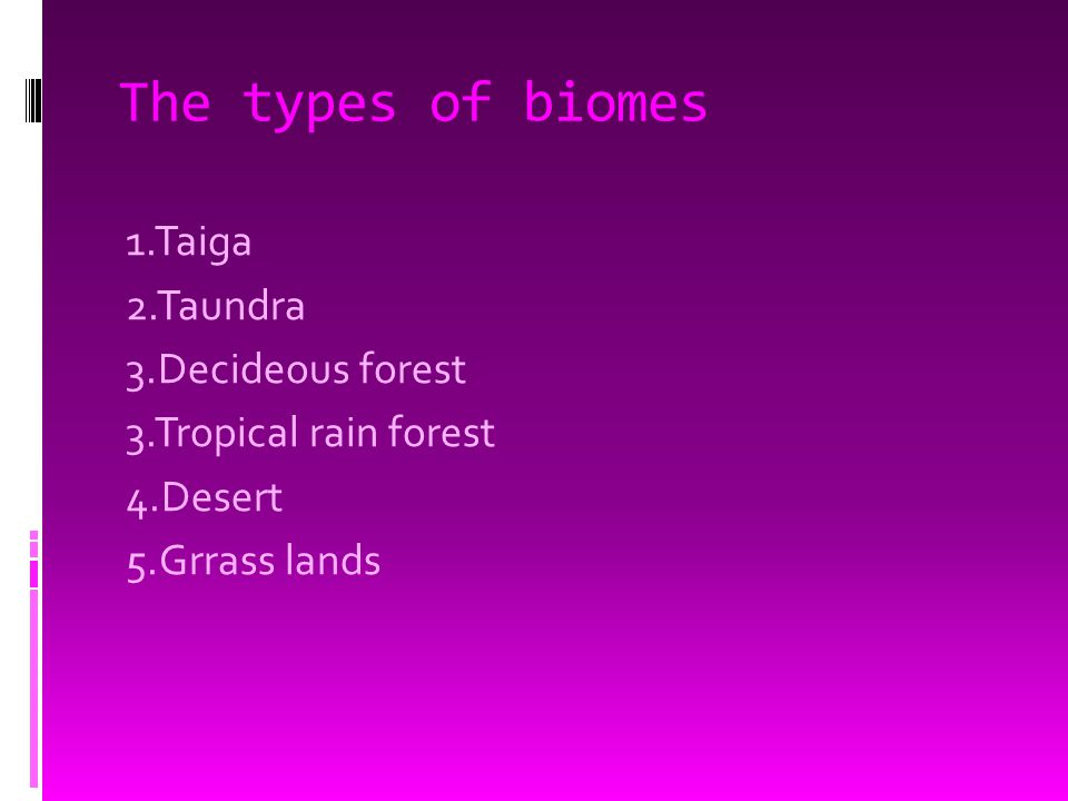 Definition of biome  Biome-a major ecosystem made up of many habits.
