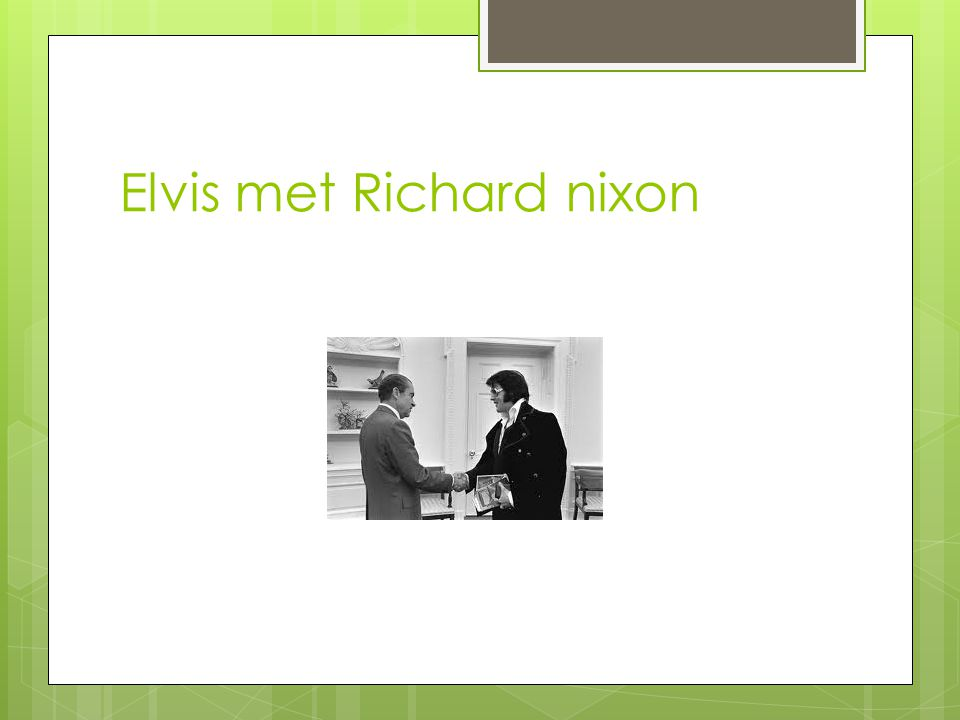 Elvis met Richard nixon
