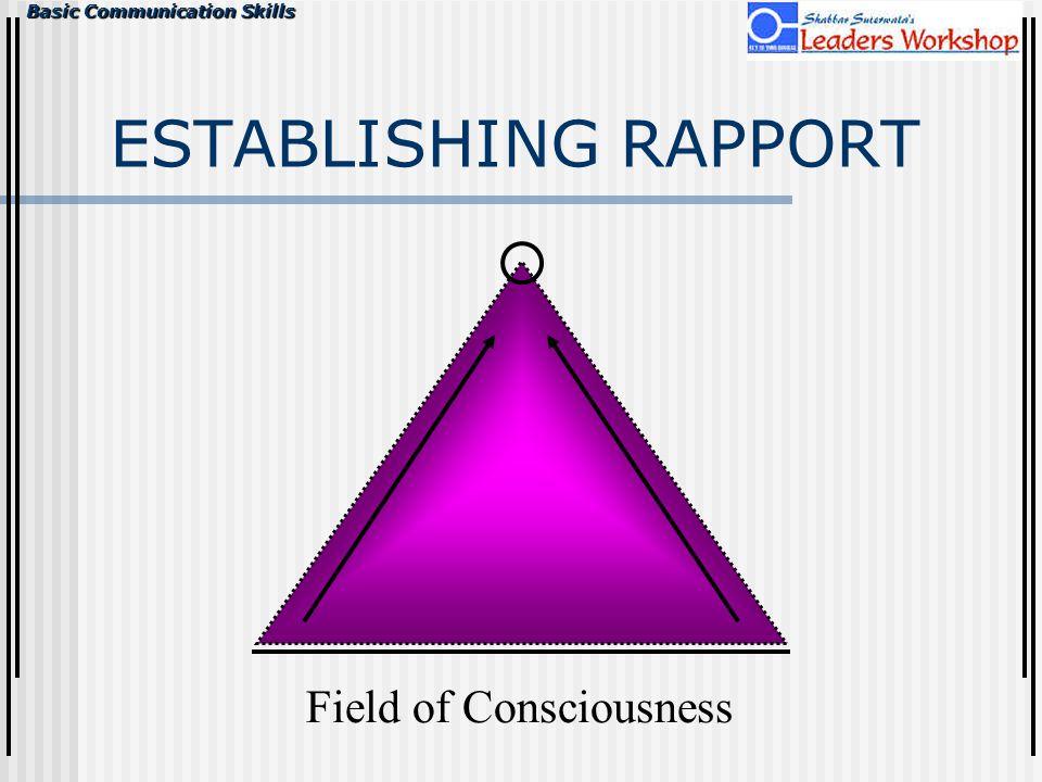 Field of Consciousness ESTABLISHING RAPPORT