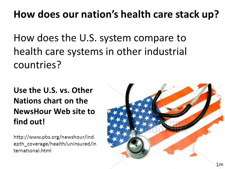 How does the U.S. system compare to health care systems in other industrial countries.
