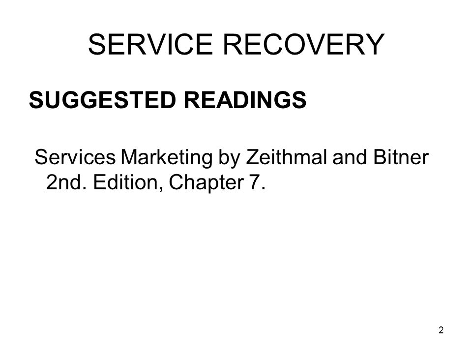 3 SERVICE RECOVERY IBM A complaint is a gift.