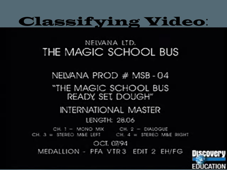 Classifying Video :
