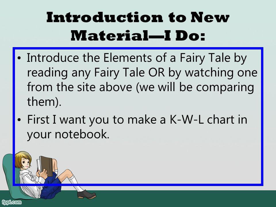 Introduction to New Material—I Do: Ask students to do a picture walk on the fiction book. What do you noticed about fiction books?
