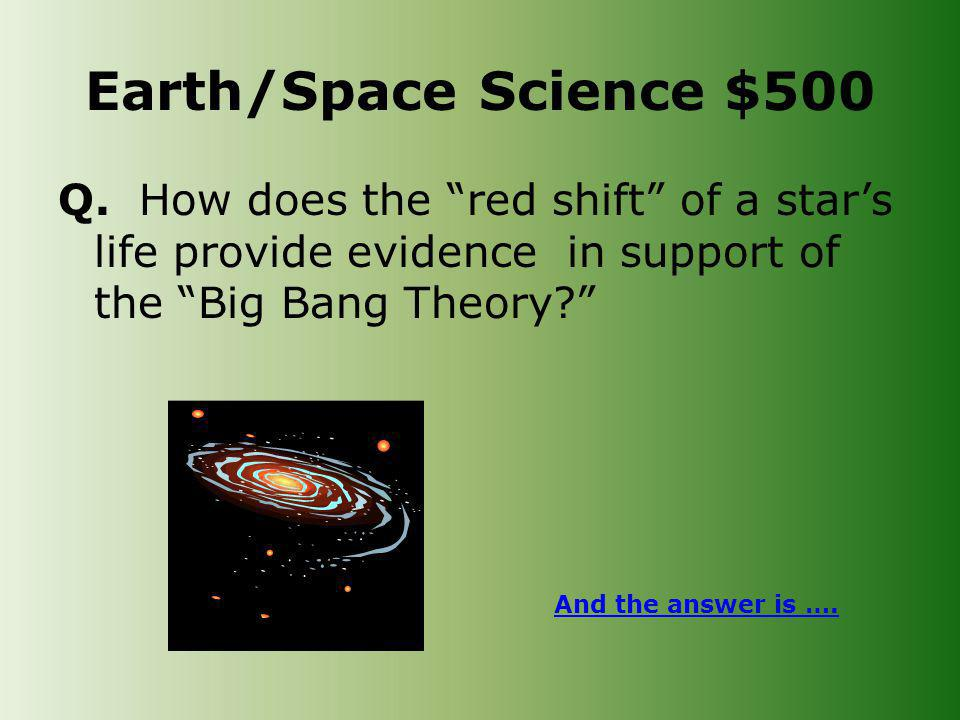 Earth/Space Science $500 Q.