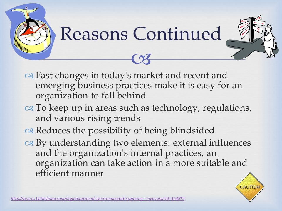   Fast changes in today's market and recent and emerging business practices make it is easy for an organization to fall behind  To keep up in areas