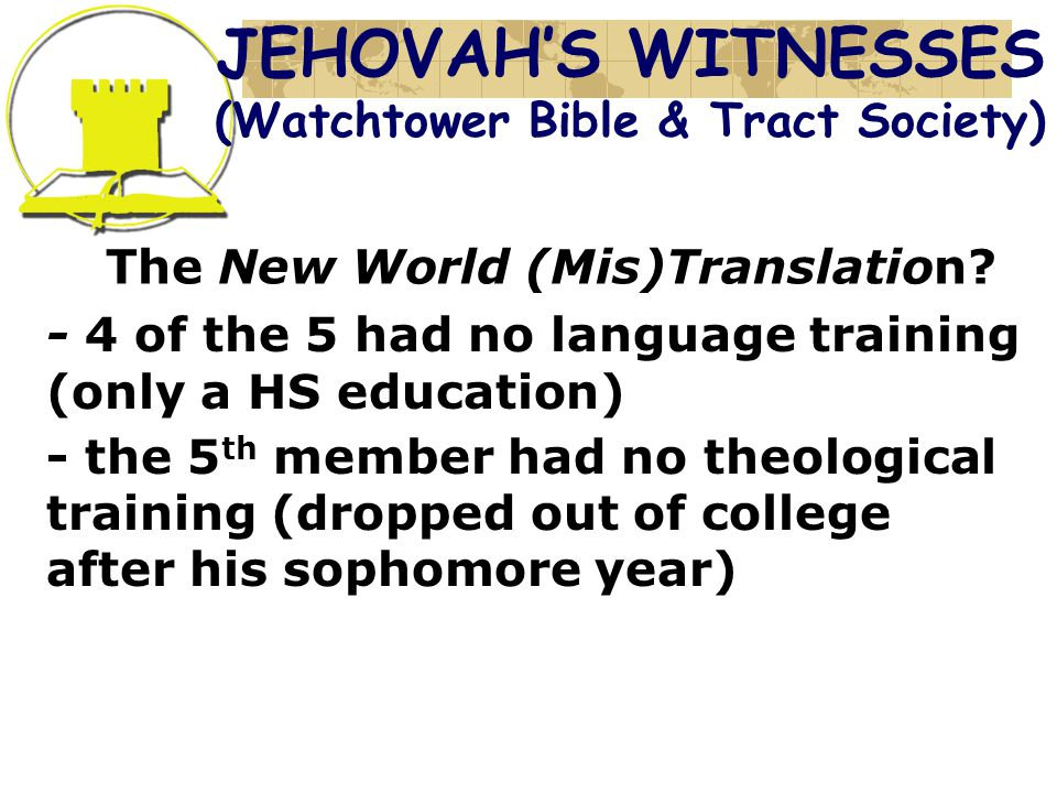 The New World (Mis)Translation.