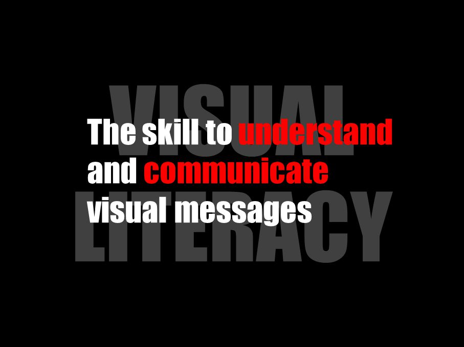 VISUAL LITERACY The skill to understand and communicate visual messages