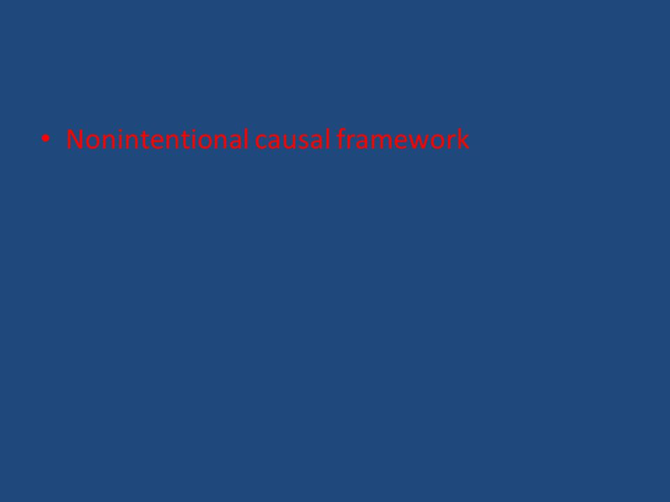 Nonintentional causal framework