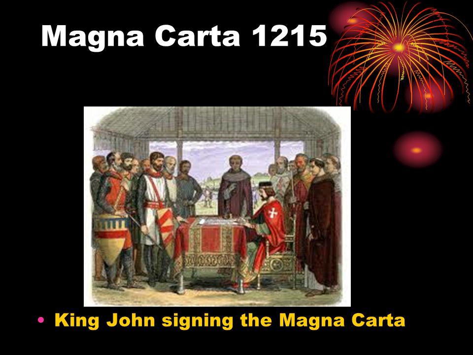 Magna Carta 1215 King John signing the Magna Carta