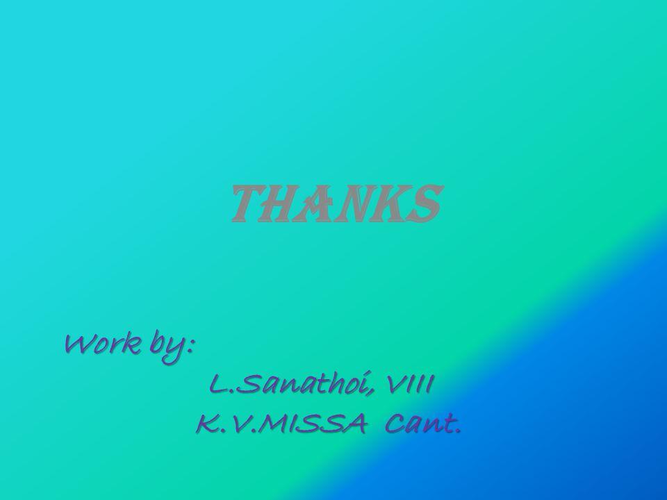 Work by: L.Sanathoi, VIII K.V.MISSA Cant. THANKS