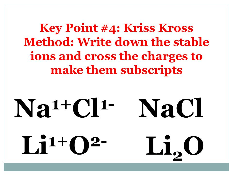 Kris Kross Method! Ca 3 As 2 Ca 2+ As 3-