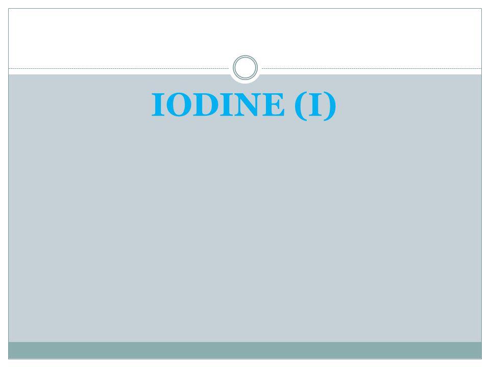 IODINE (I)