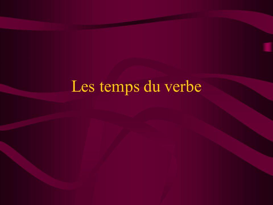 Les temps du verbe
