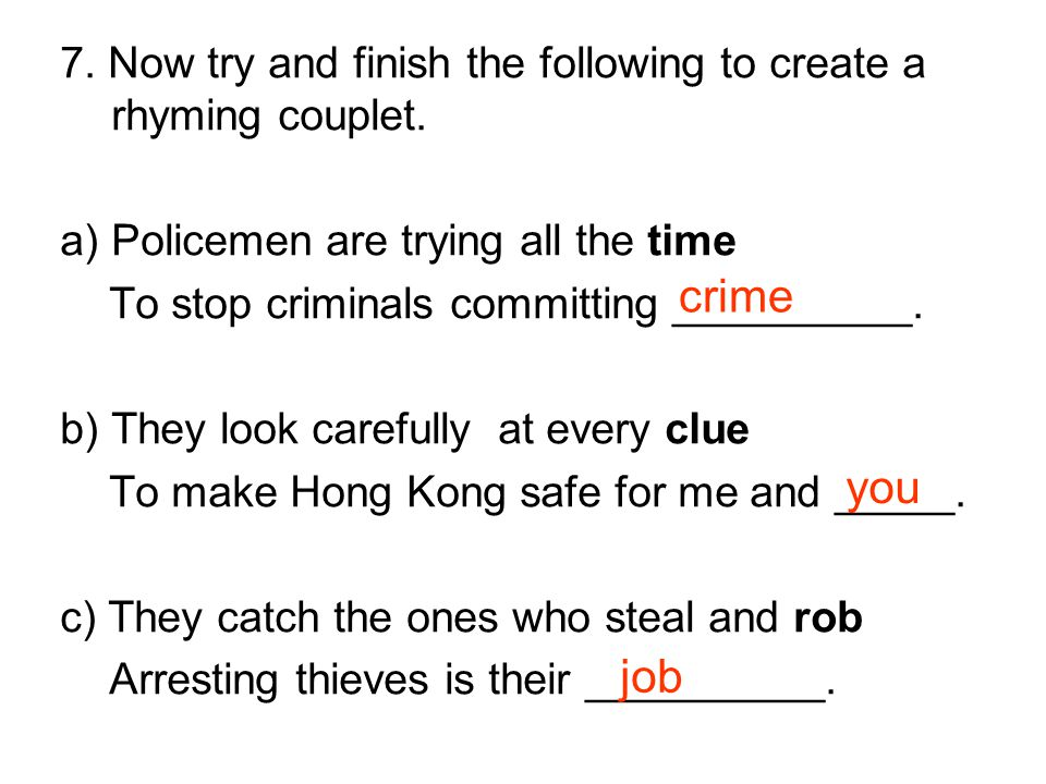 8.There are 15 words about crime in the following word search.