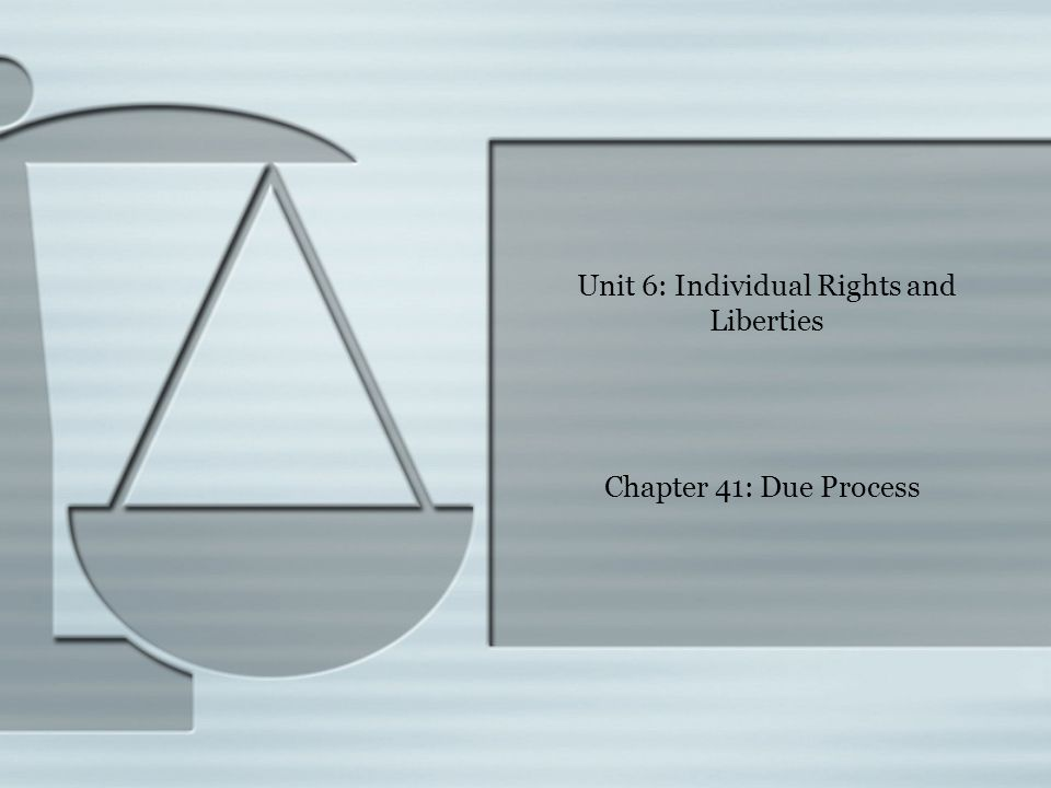  Generally, the phrase due process refers to the concept of legal fairness.