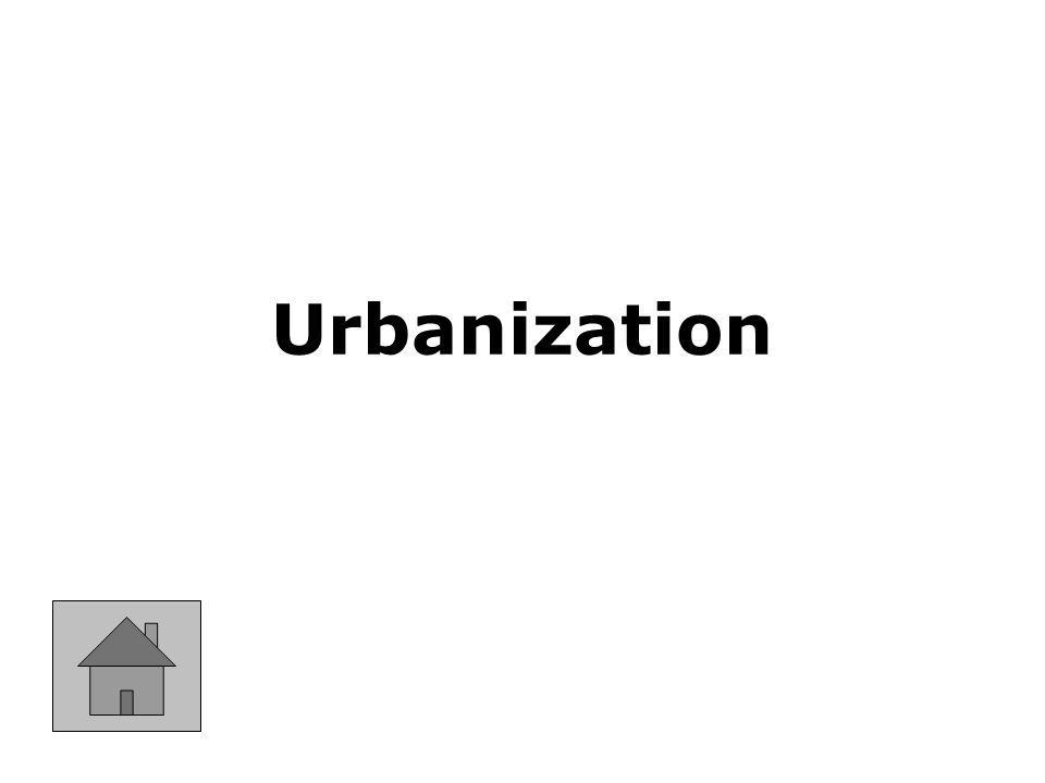 Process of a populations shift from farms to cities.
