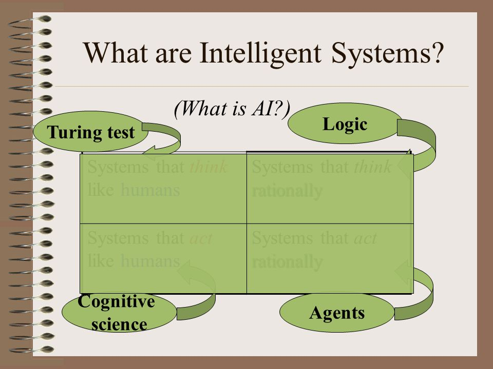What are Intelligent Systems.