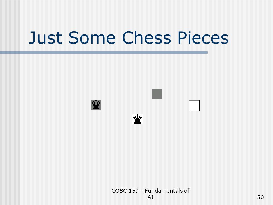 COSC 159 - Fundamentals of AI50 Just Some Chess Pieces