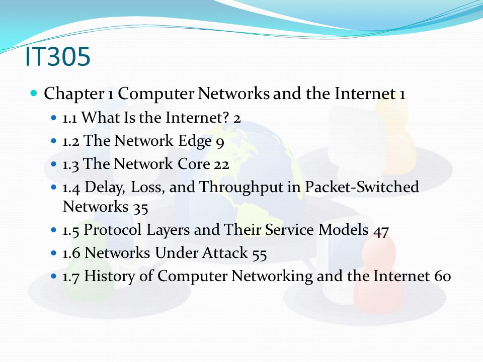 Chapter 1 Computer Networks and the Internet What Is the Internet.