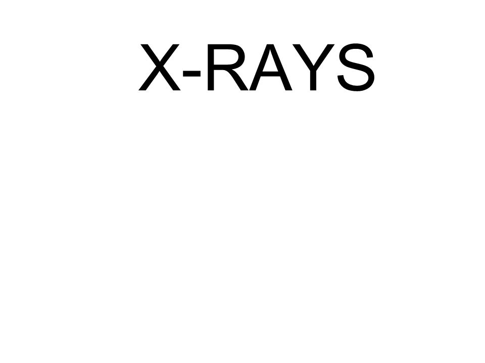 Different parts of the body absorb the x-rays in varying degrees.