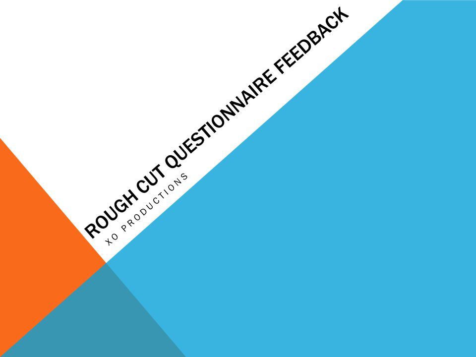 ROUGH CUT QUESTIONNAIRE FEEDBACK XO PRODUCTIONS
