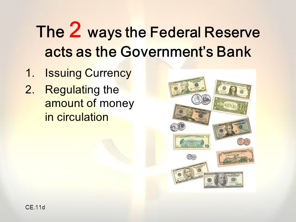 CE.11d 2.Which of these will the Federal Reserve NOT do when it wants to stimulate the economy.