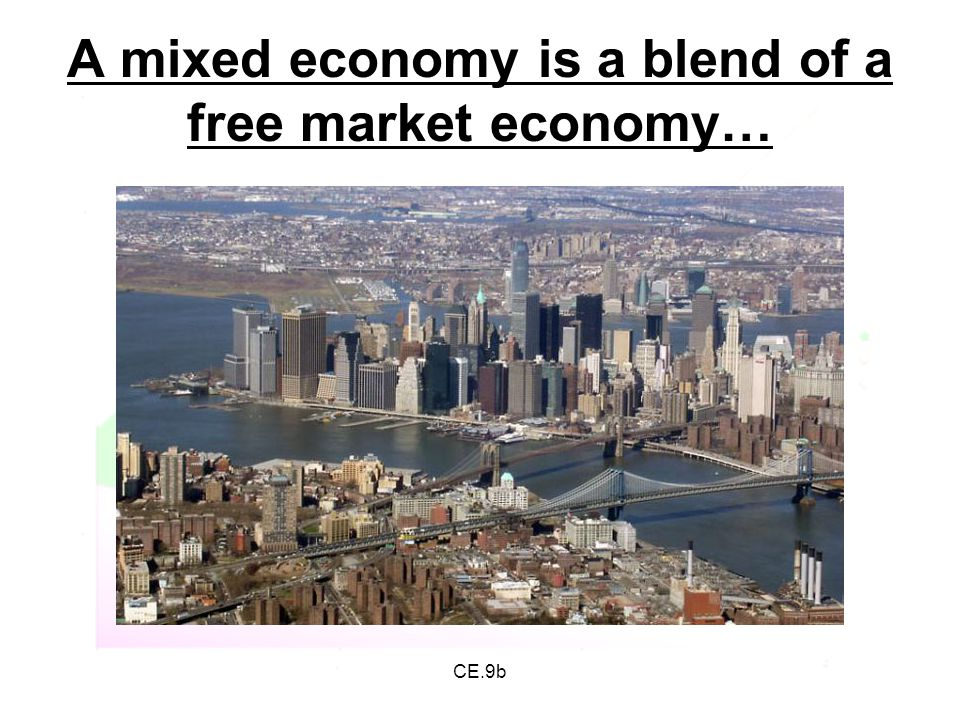 CE.9b A mixed economy is a blend of a free market economy…