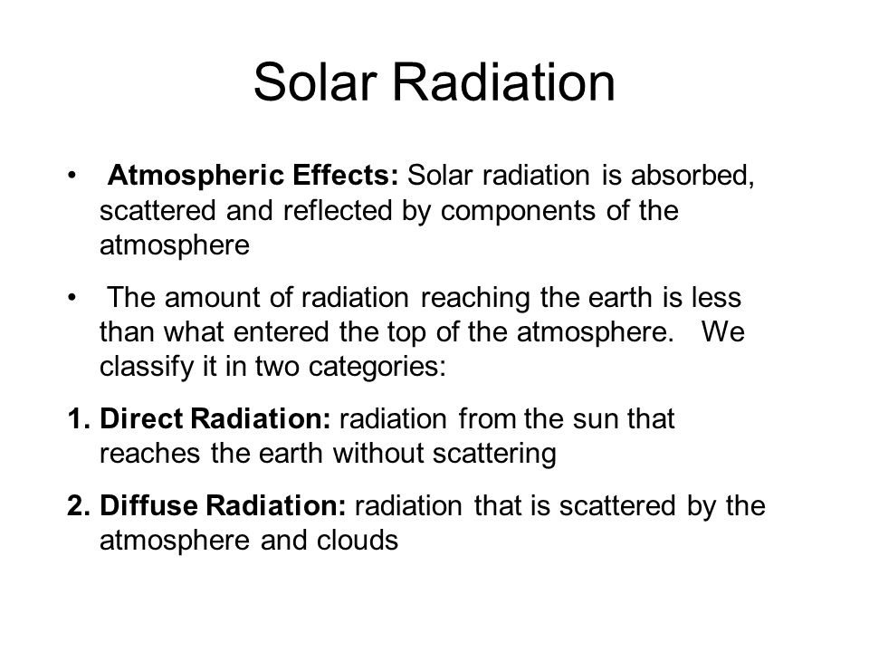 Solar Radiation 2.