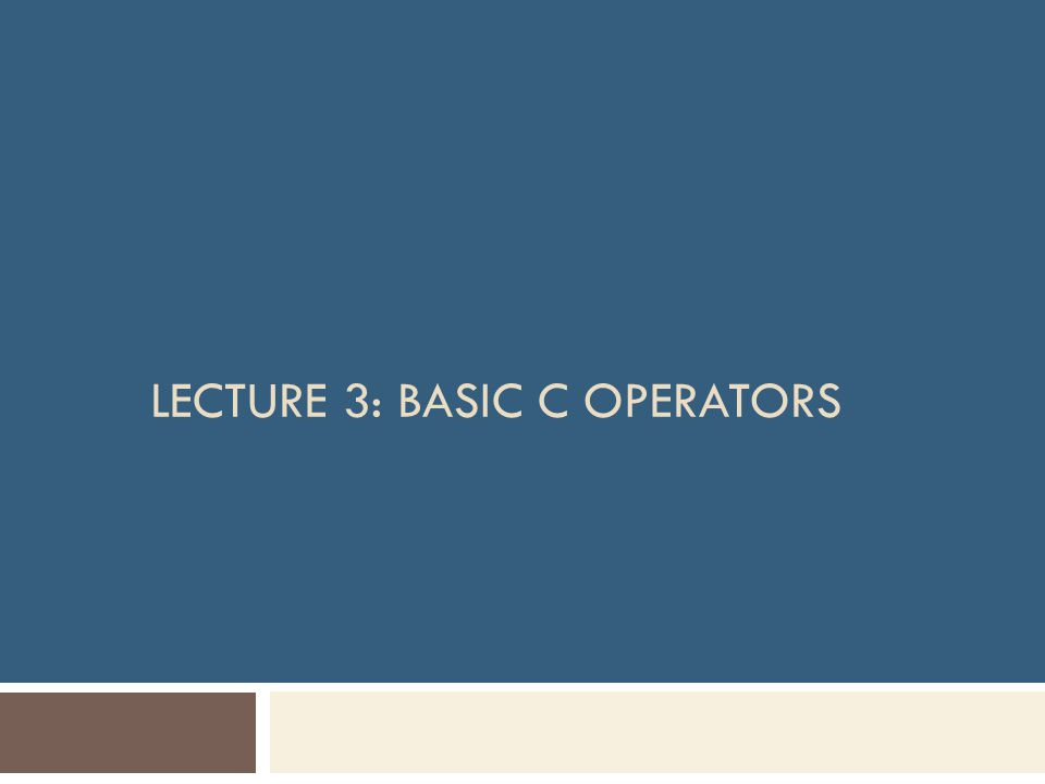 Objectives  In this chapter, you will learn about:  Arithmetic operators Unary operators Binary operators  Assignment operators  Equalities and relational operators  Logical operators  Conditional operator