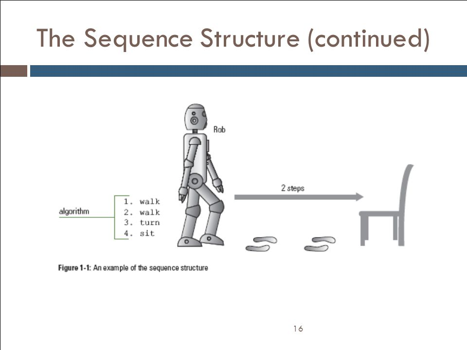 The Sequence Structure (continued) 16