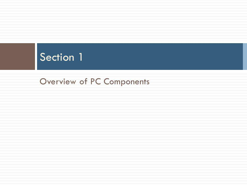 Overview of PC Components Section 1
