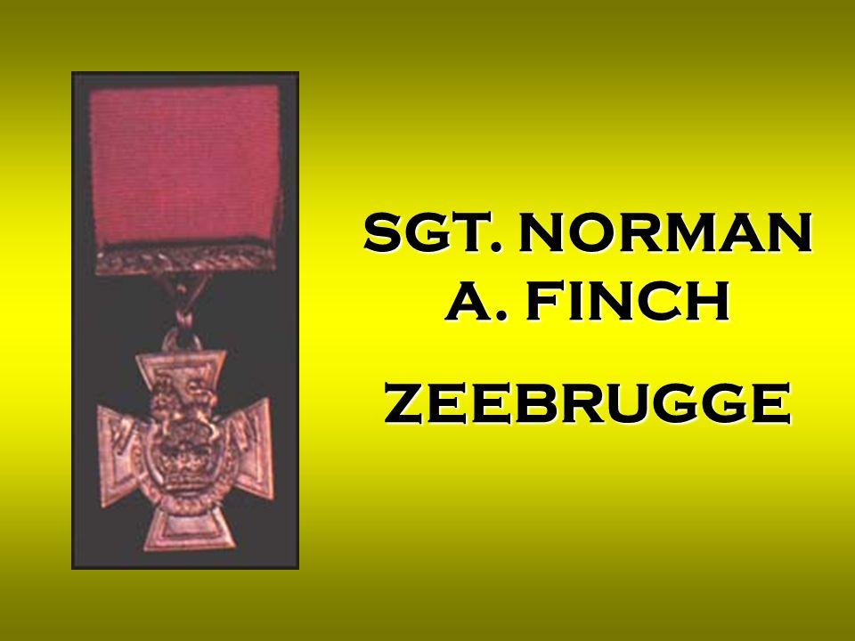 SGT. NORMAN A. FINCH ZEEBRUGGE