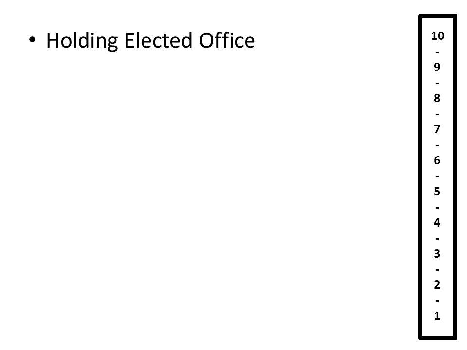 Lobbying 10 - 9 - 8 - 7 - 6 - 5 - 4 - 3 - 2 - 1