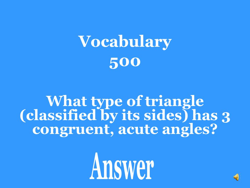 Vocabulary 400 Scalene Triangle