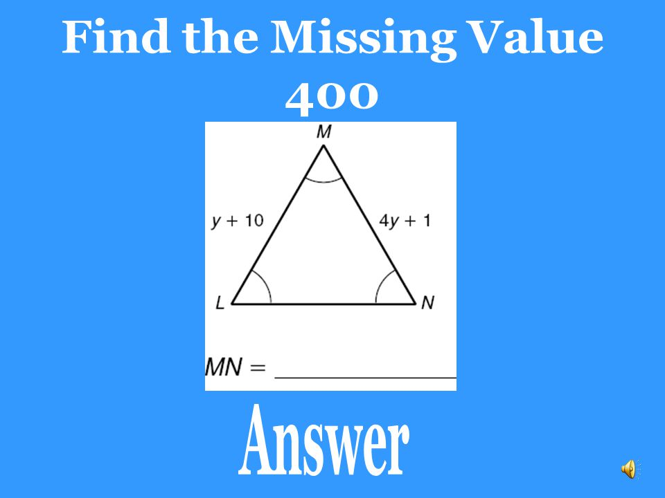 Find the Missing Value 300 m  M = 60 