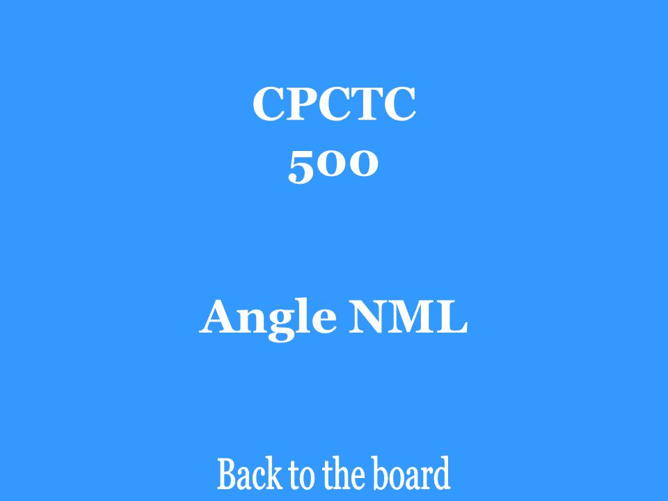 CPCTC 500 If ∆XYZ  ∆LMN, then angle ZYX is congruent to _______