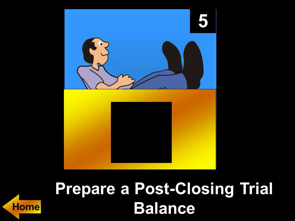 5 Prepare a Post-Closing Trial Balance