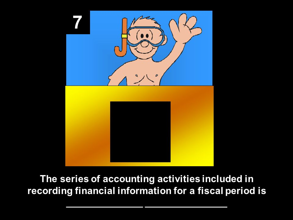 7 The series of accounting activities included in recording financial information for a fiscal period is ______________ _______________