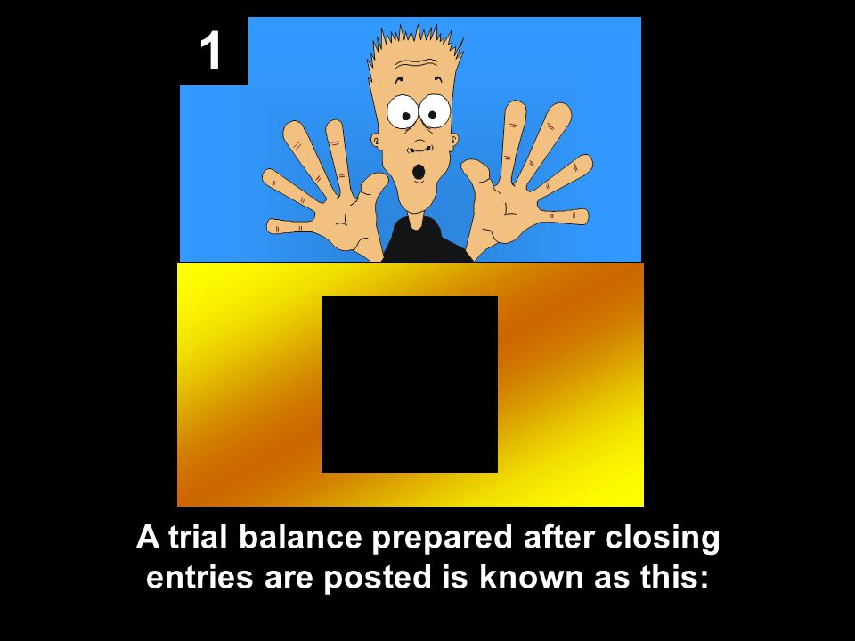 1 A trial balance prepared after closing entries are posted is known as this: