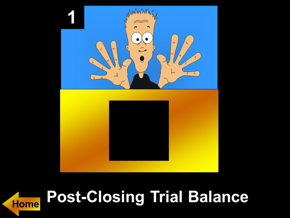 1 Post-Closing Trial Balance Home