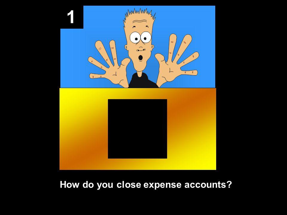 1 How do you close expense accounts