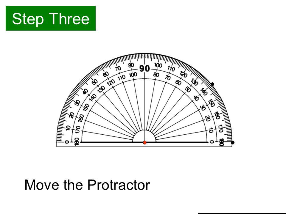Step Three Move the Protractor