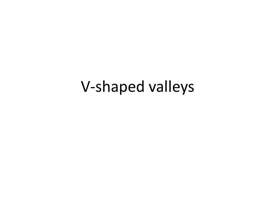 V-shaped valleys
