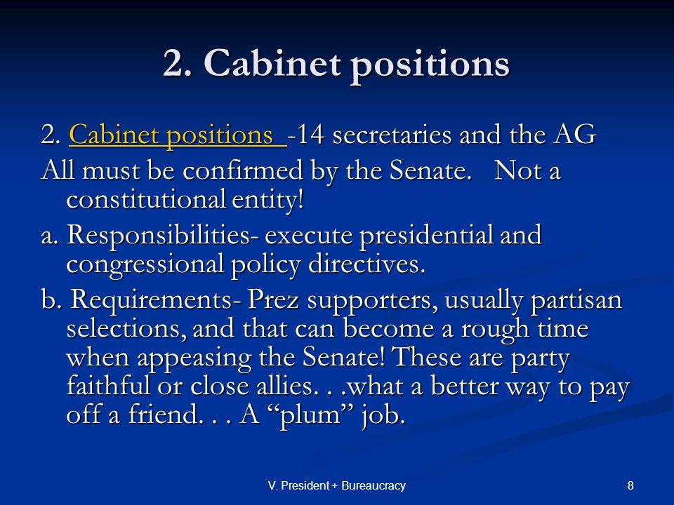 39V.President + Bureaucracy 2. Bureaucratic theories on how to run a gov't a.