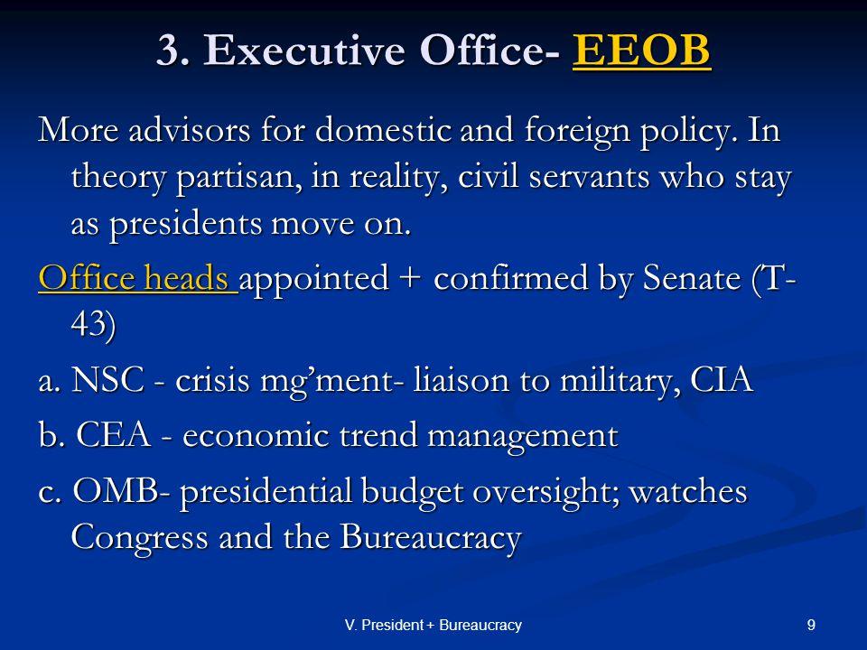 40V.President + Bureaucracy 3. The Hierarchy a.